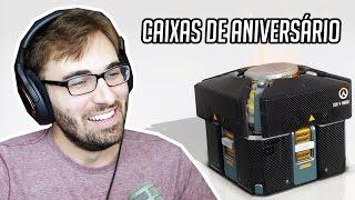 COMEMORAÇÃO DE ANIVERSÁRIO DO OVERWATCH - Abrindo Caixas de Itens!!! (PC Gameplay)