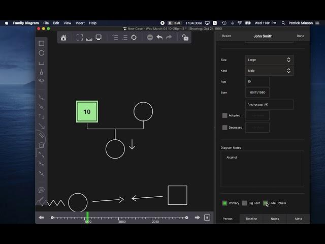 Family Diagram Tutorial Part 3 - Editing Items