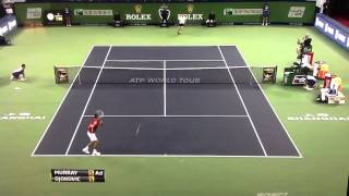 Angry Novak Djokovic breaks racquet with frustration at Shangai Final 2012 vs Andy Murray