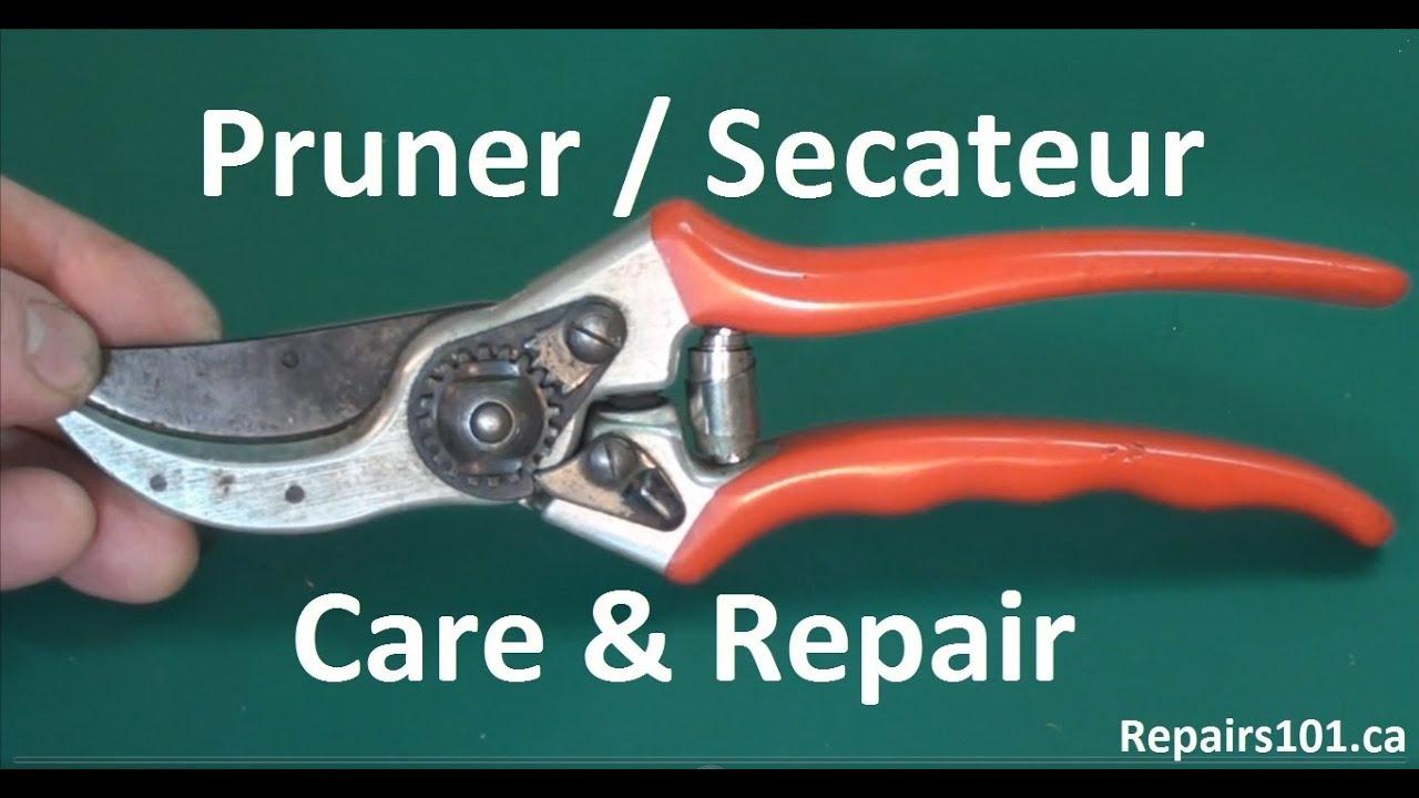 Pruner secateur care repair how to make your tools for English garden tools yeah yeah yeah