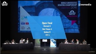 Thessaloniki WUDC 2016 - Finals | Open Final