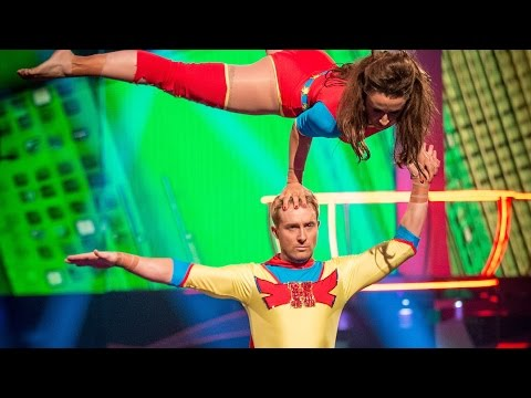 Ian 'H' Watkins' Trapeze performance  to 'Holding Out For A Hero'  - Tumble: Grand Final - BBC One