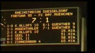 1978 Fortuna Düsseldorf - Bayern München 7:1 | 2x Allofs, Seel, Günther, 1x Zimmermann