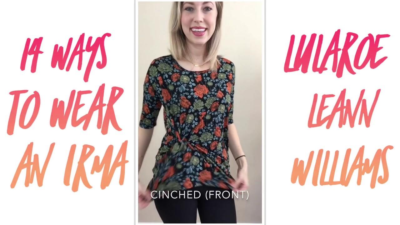 849b20ec How to Style the LuLaRoe Irma (One Shirt Worn 14 ways!) - YouTube
