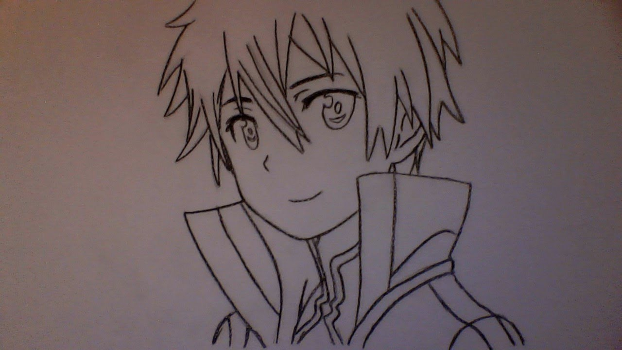 How To Draw Kirito From Sword Art Online Kazuto Kirigaya