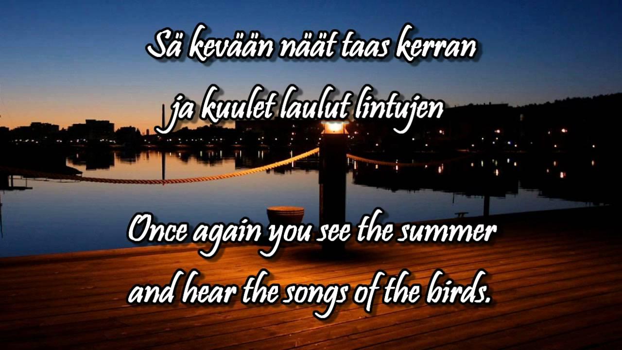 mun sydämeni tänne jää lyrics