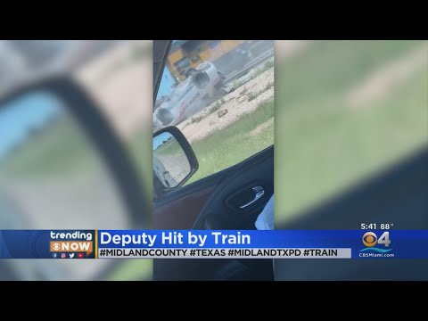 Cellphone Video Captures Deputy Hit By Train