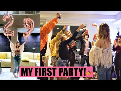 I THREW A PARTY AT MY NEW APARTMENT! | Housewarming & My 29th Bday! Vlogmas 8