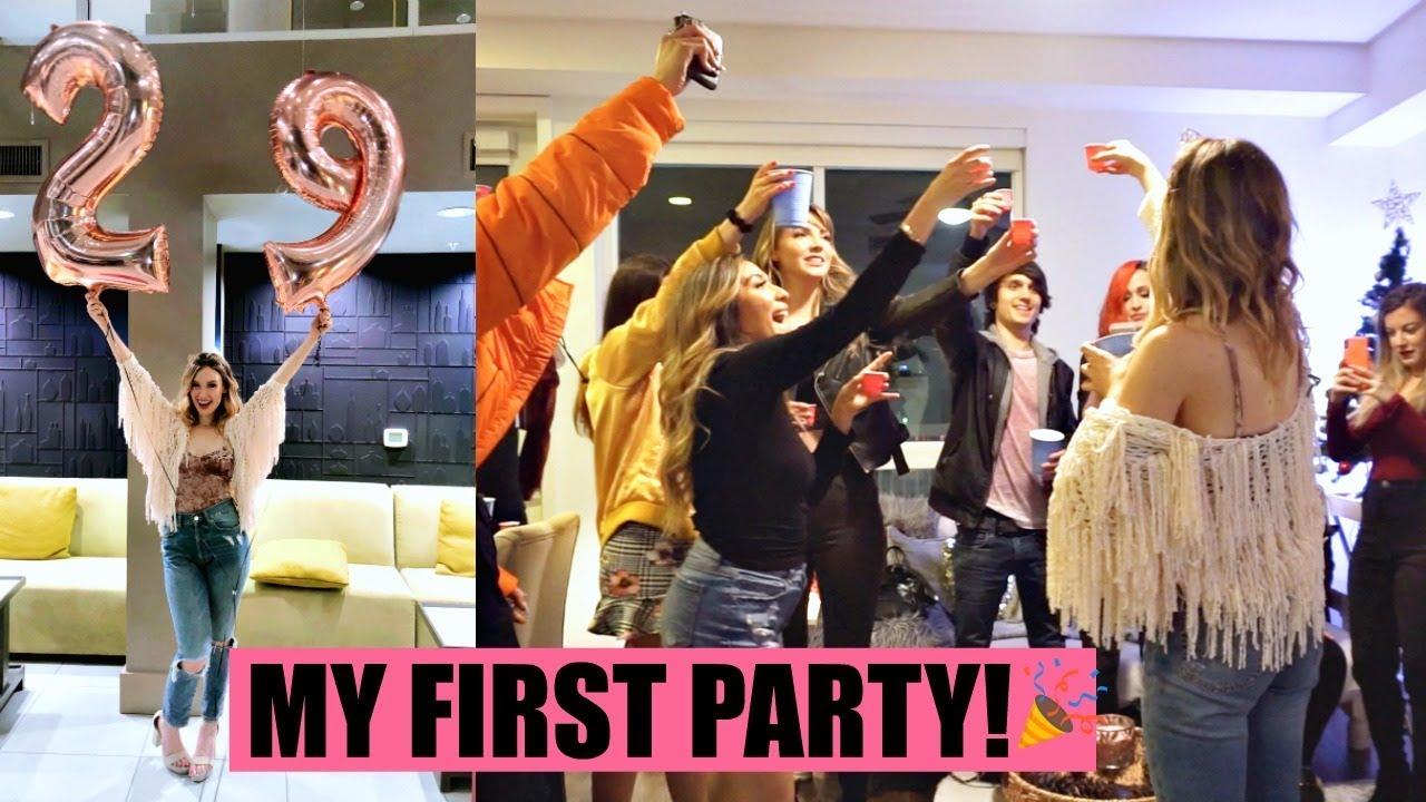 I Threw A Party At My New Apartment Housewarming 29th Bday Vlogmas 8
