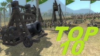 TOP 10 SIEGE BATTLE UNITS -  Medieval 2 total war gameplay