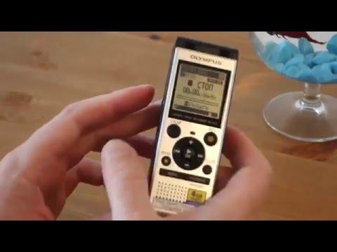 9269a053367 Обзор диктофона Olympus WS-852 - YouTube