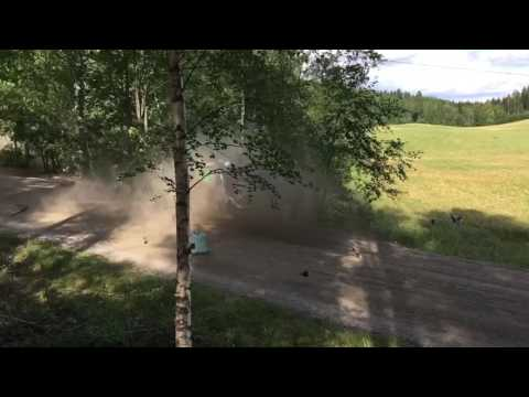 Pontus Tidemand Crash, Neste Oil Rally Finland 2016 (HD)