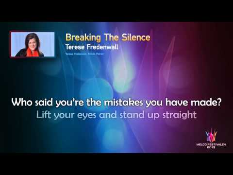 "Terese Fredenwall ""Breaking The Silence"" -- (On screen Lyrics)"