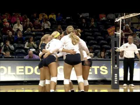 Toledo Volleyball Tops CMU in Five Sets