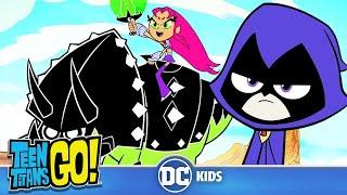 Teen Titans Go! En Español | ¿Quién es el titán más duro? | DC Kids