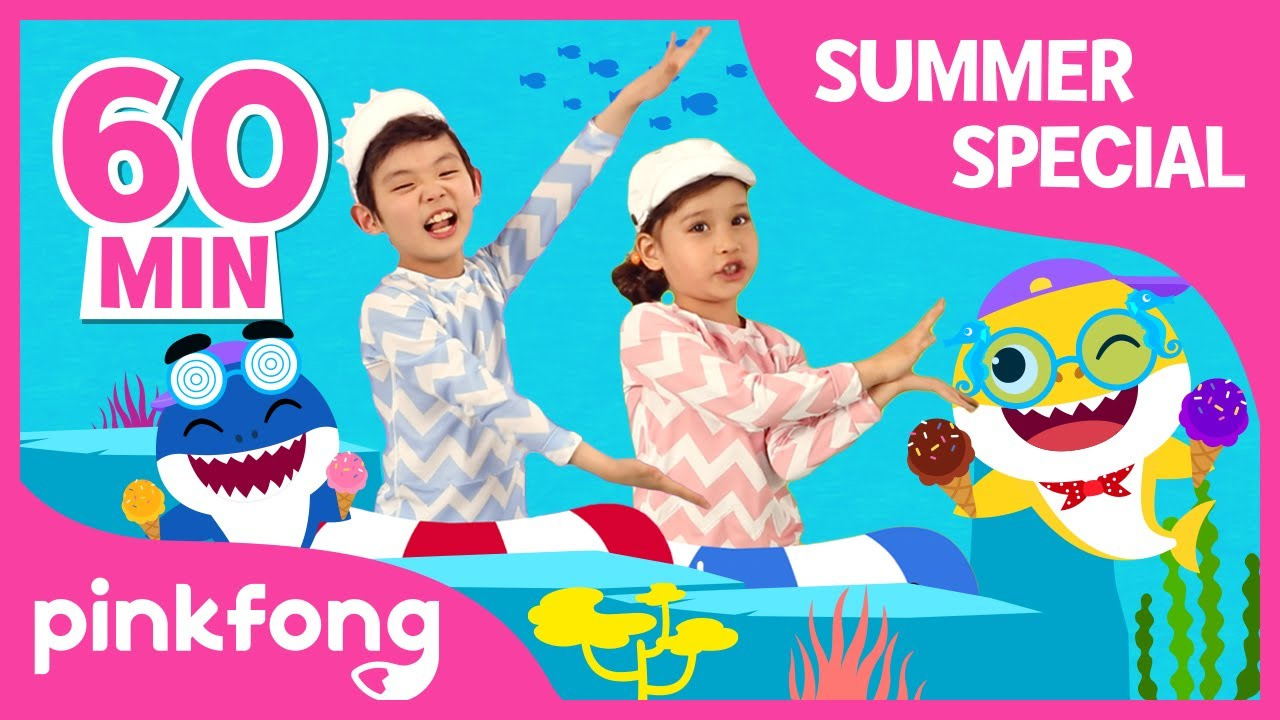 Baby Shark Dance And More Best Summer Songs Compilation Pinkfong Songs For Children Youtube