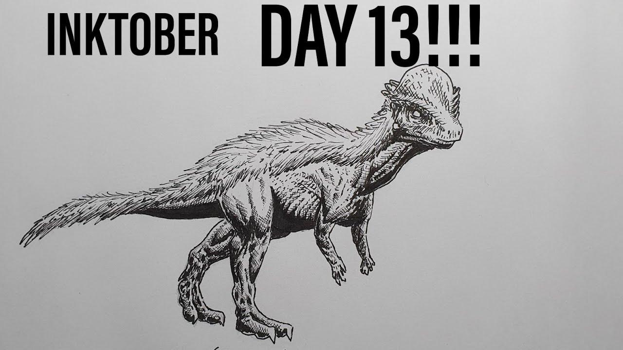 INKTOBER DAY 13!!! Drawing a Stegoceras