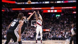 San Antonio Spurs vs Portland Trail Blazers  - Full Game Highlights   November 16, 2019