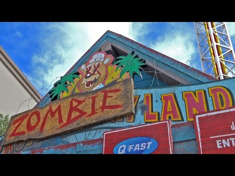 Zombieland REAL Drop Tower Ride POV Based on the Movie! Motiongate Dubai UAE
