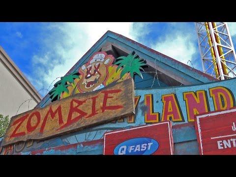Zombieland REAL Drop Tower Ride POV Based on the Movie! Motiongate Dubai UAE