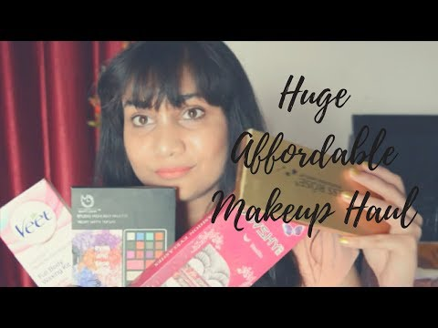 Huge Affordable Makeup Haul 2017| Under 500rs | Where to Buy Online at cheaper Rates | Nidhi Katiyar