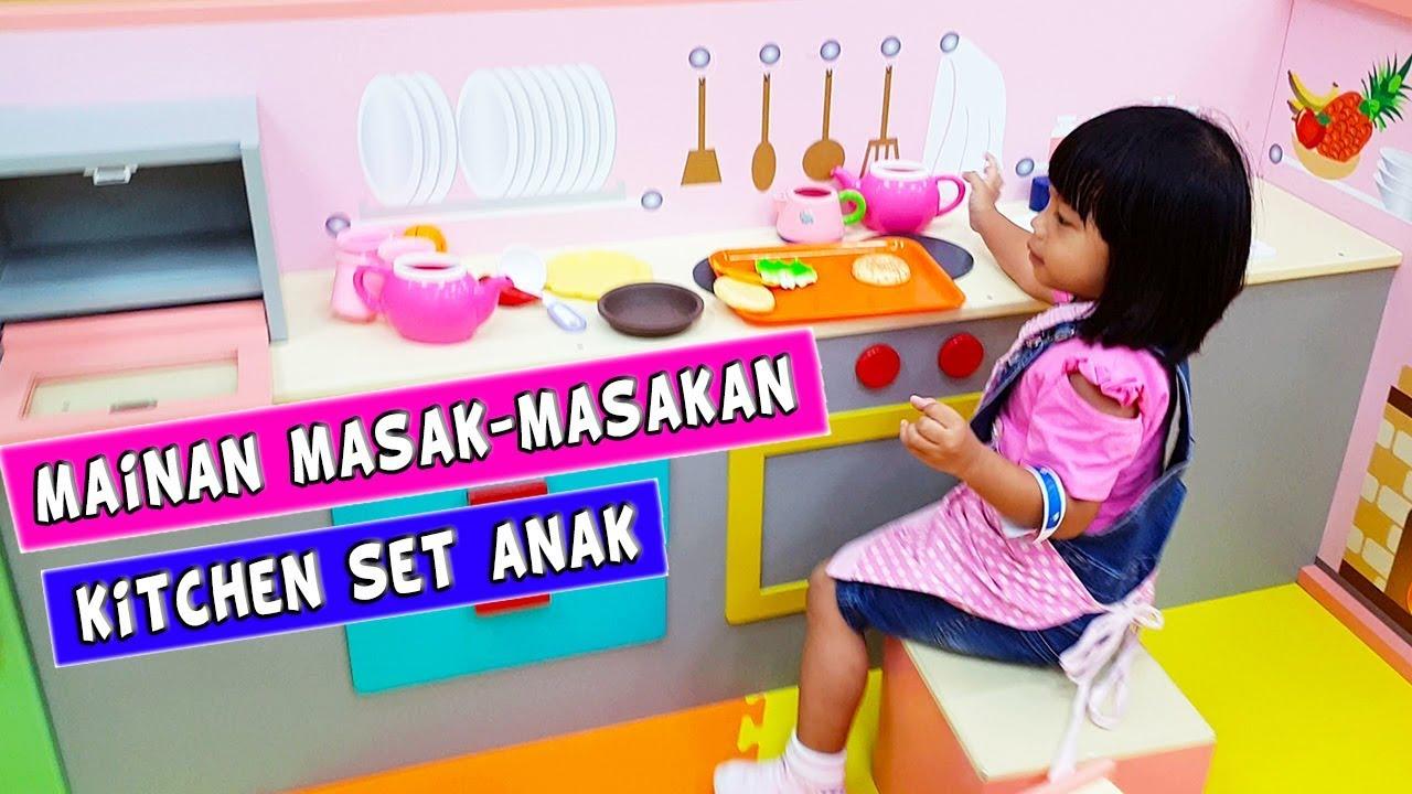 Mainan Anak Kitchen Set Besar Bermain Masak Masakan Anak Perempuan Youtube