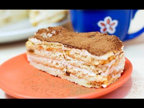 Торт без выпечки из печенья | Торт без духовки | Торт из печенья | Рецепт торта