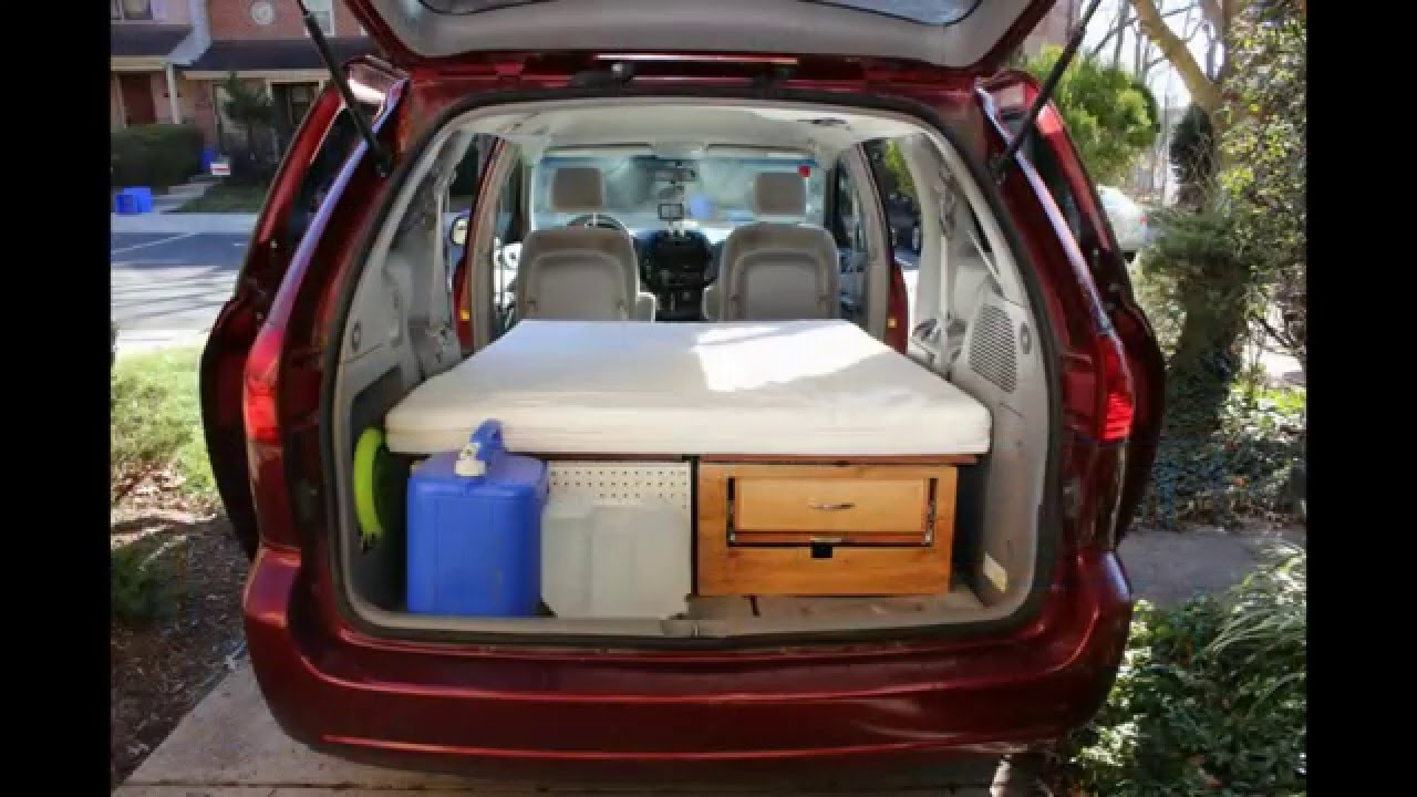 Convert Your Minivan Into A Camper Within Few Minutes Part 1