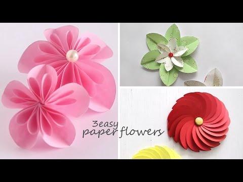 3 Easy Paper Flowers