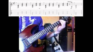 evanescence my immortal solo guitar cover with tabs and backingtrack