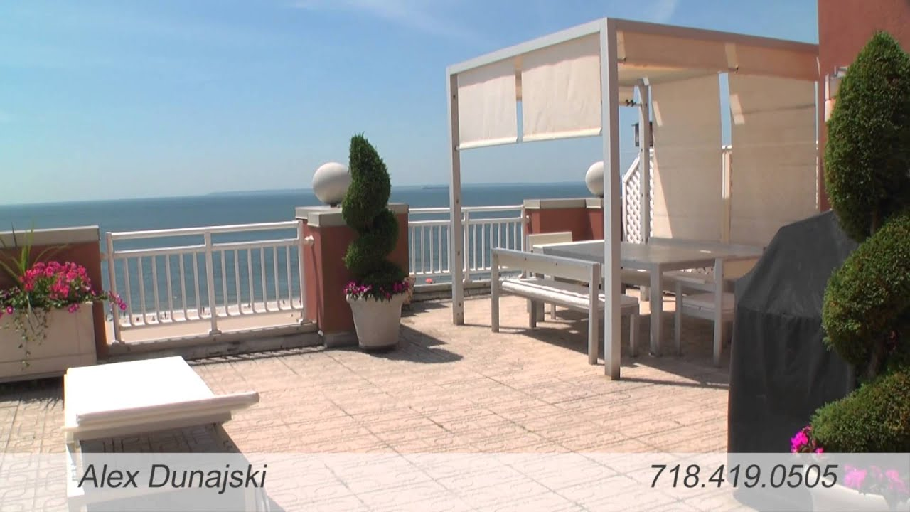 Oceanfront penthouse for sale in oceana brooklyn youtube for Brooklyn penthouses for sale