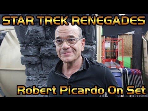 Robert Picardo On Set - Star Trek Renegades