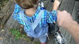 Обучение детей катанию на велосипеде. ч. 2