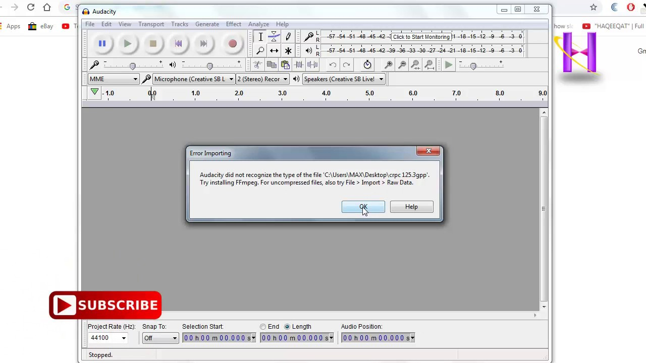 Audacity FFmpeg library installation process in hindi