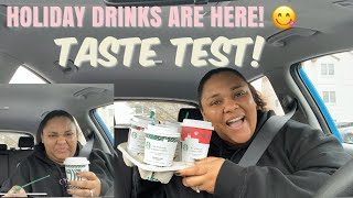 TRYING ALL THE STARBUCKS HOLIDAY DRINKS | 2019