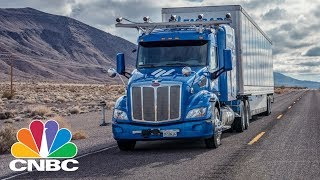 Embark Trucks' Self-Driving Truck Drives From Los Angeles To Jacksonville | CNBC thumbnail