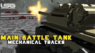 Space Engineers - Main Battle Tank M1A1/M60 Mechanical Tracks, Dakka dakka dakka!