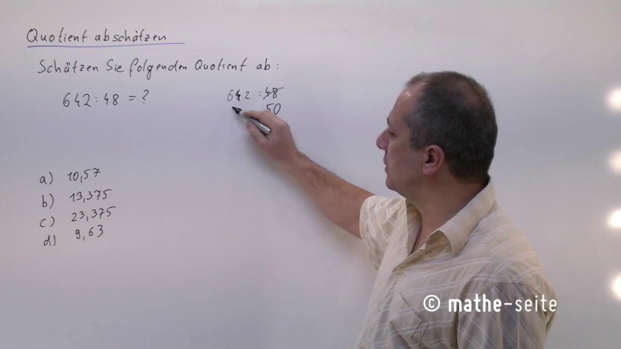 Mit diesem Trick kann man große Zahlen im Kopf dividieren, Beispiel 2 | B.09.02