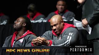 2018 Mr.Olympia Press Conference.Shawn Rhoden vs Phil Heath
