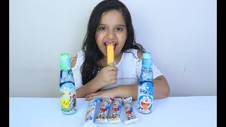 Bottle pop حلويات دورايمون Shfa Mukbang