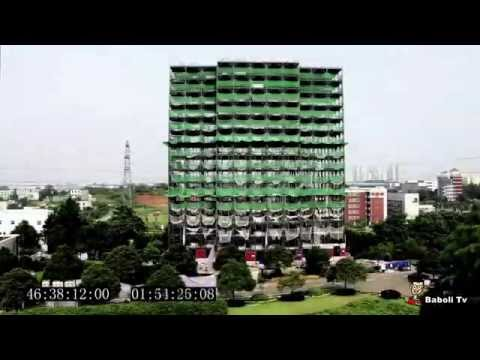 Ark Hotel Construction time lapse building 15 storeys in 2 days HD