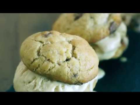 Chocolate Chip & Macadamia Nut Cookie Ice-Cream Sandwiches