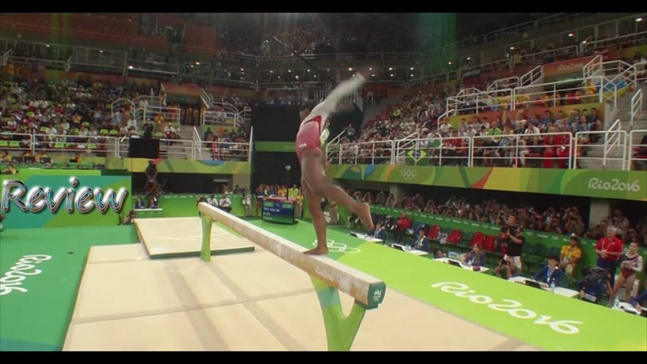 olympic gymnastics rio simone biles balance beam usa team final review