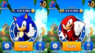 Sonic Dash SONIC VS KNUCKLES Android Gameplay