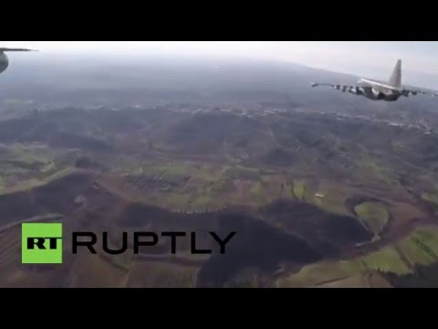 Syria: Russian jets covered by Syrian Air Force in first ever joint anti-IS raid