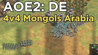 Age of Empires 2: Definitive Edition - 4v4 RM Mongols Arabia Cav. Archers! - eartahhj - 28/03/2020