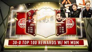 ICON IN MY UNREAL 30-0 FUT CHAMPS REWARDS w/ MY MUM! TOP 100! FIFA 21!