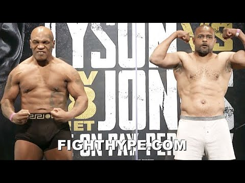 Download MIKE TYSON VS. ROY JONES JR. FULL WEIGH-IN & FINAL FACE OFF