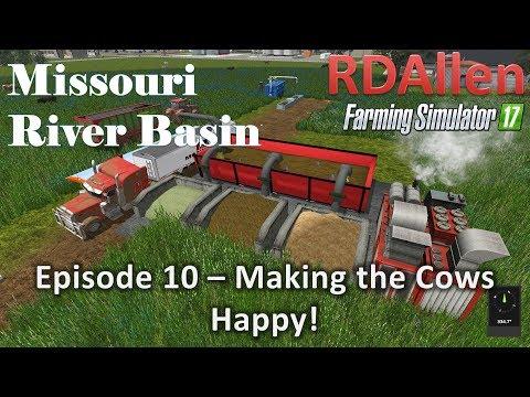 Farming Simulator 17 River Basin E10 - Making The Cows Happy!