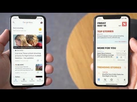 Google  vs. Apple  on iOS